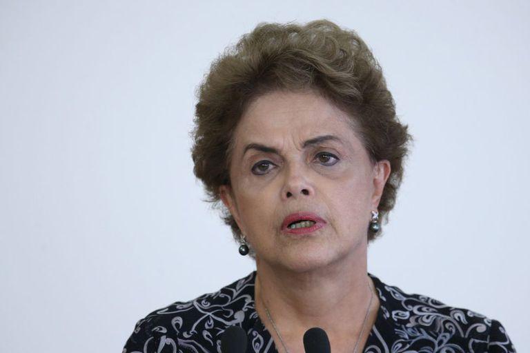 Dilma Rousseff nesta terça, no Palácio do Planalto.