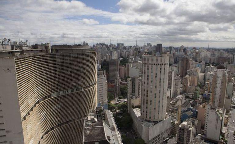 Vista aérea do centro de São Paulo.