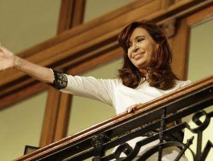 A presidenta Argentina em ato celebrado em julho.