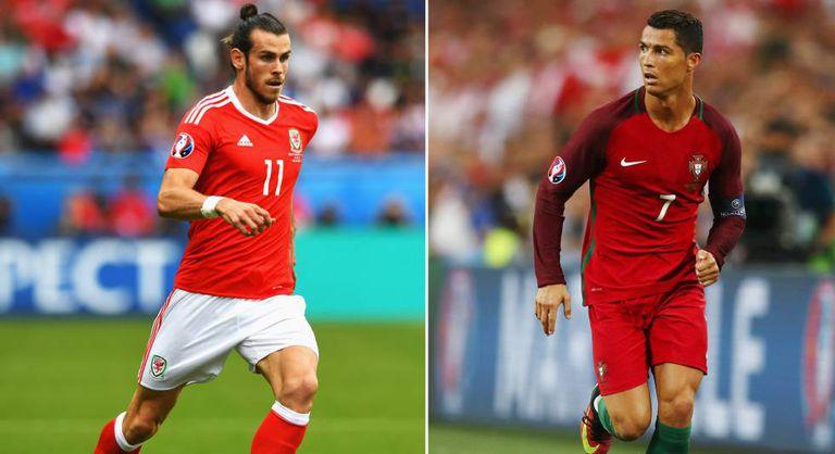 Bale e Cristiano: estrelas de Portugal x País de Gales.