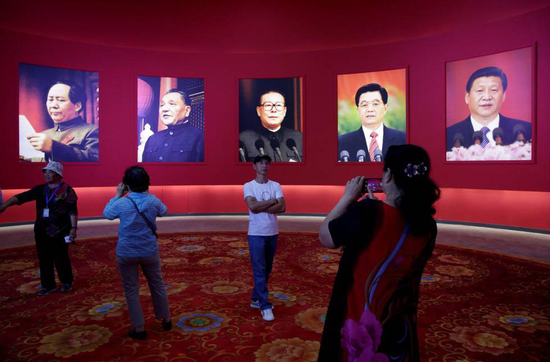 Vista da exposição em Pequim que comemora o 70º aniversário da Revolução.