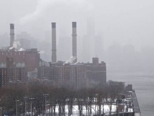 Fotografia de uma usina energética em Nova York