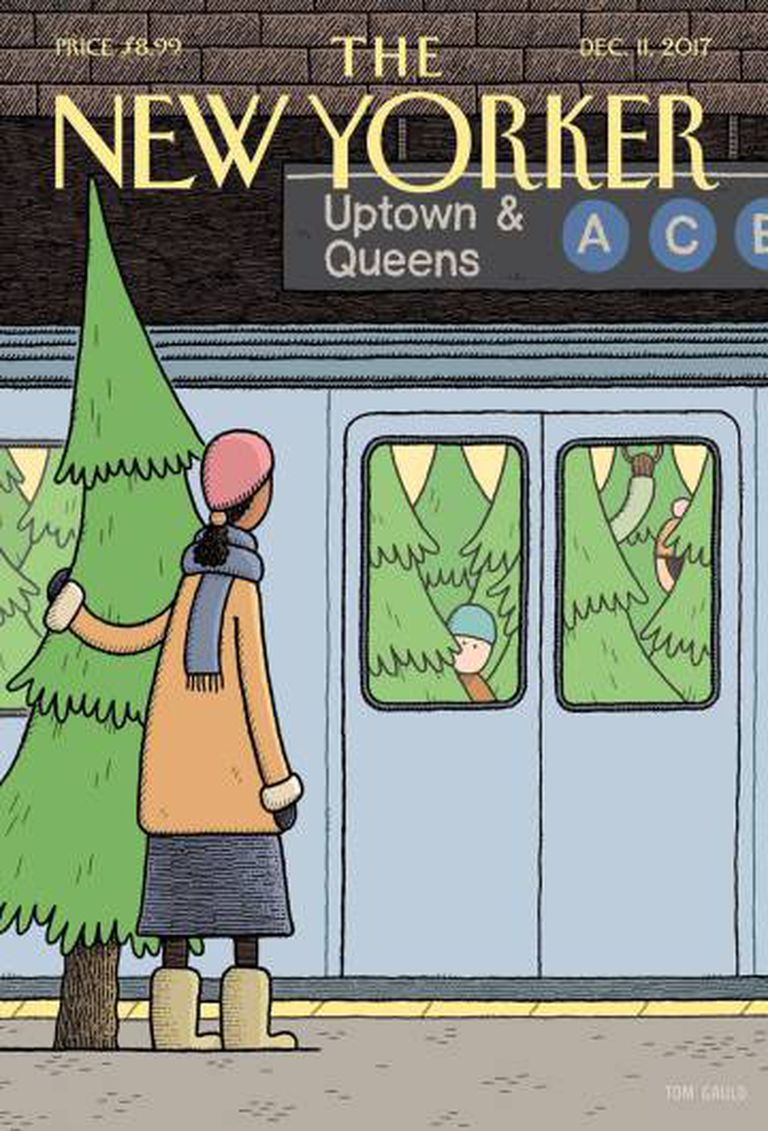 Capa da 'The New Yorker' de 11 de dezembro de 2017, onde foi publicado o conto.
