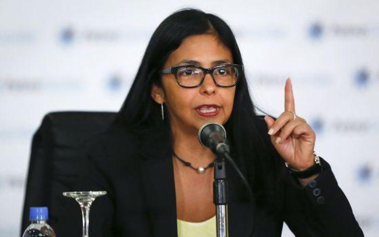 O chanceler venezuelana, Delcy Rodriguez