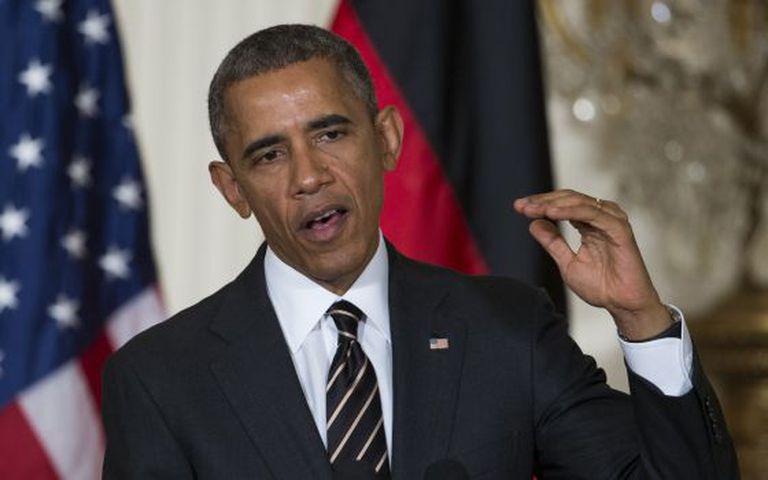 O presidente Obama durante apresentação na Casa Branca.