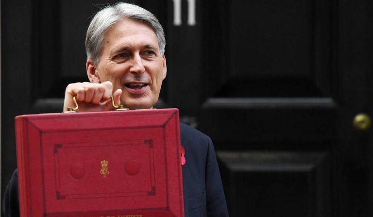 O ministro da Economia britânico, Philip Hammond, em 29 de outubro de 2018, em Londres.