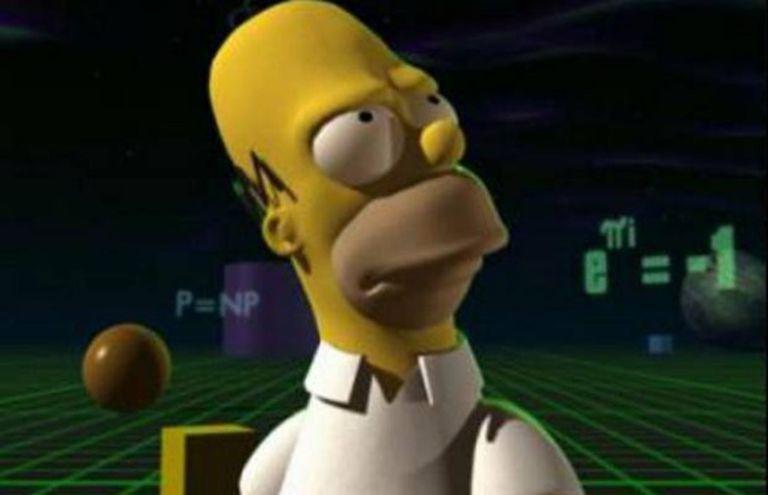 Homer, ante a identidade de Euler.