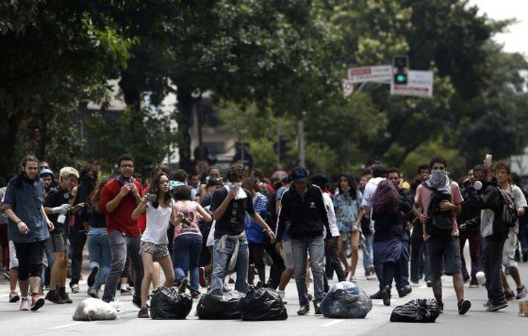 Protesto nesta sexta-feira, em São Paulo.
