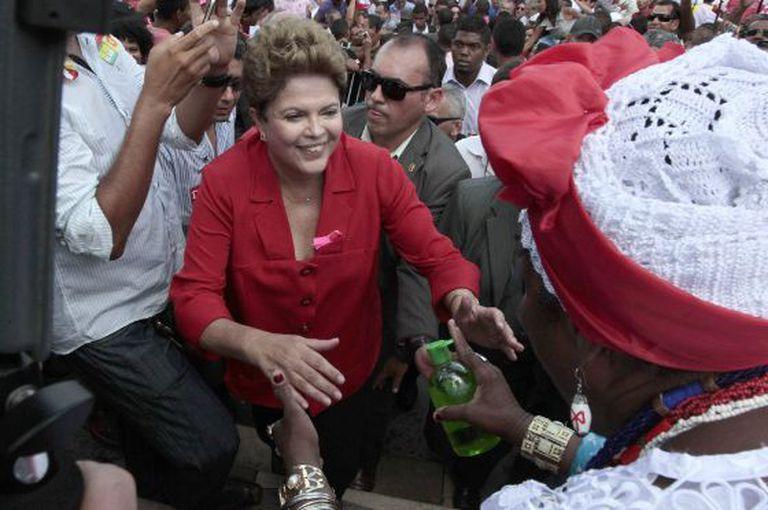 Dilma, em campanha em Salvador no dia 9.