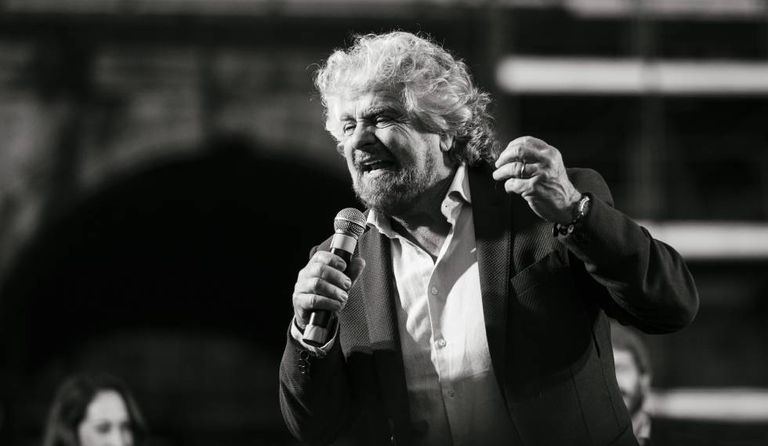 O cofundador do partido Movimento 5 Estrelas, Beppe Grillo.