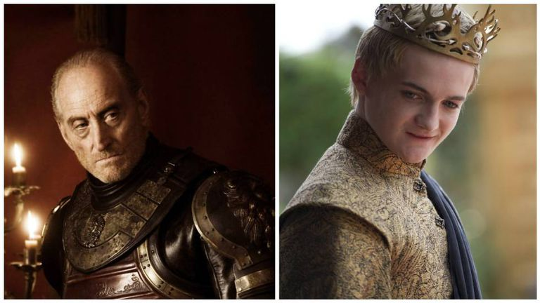 Tywin Lannister e Joffrey Baratheon.