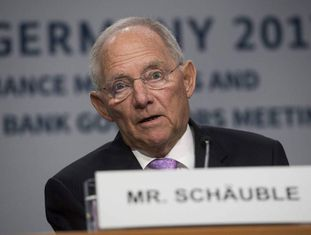 O ministro alemão Wolfgang Schäuble, nesta sexta-feira em Washington.