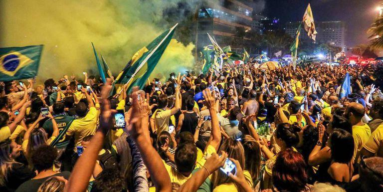 Eleitores de Bolsonaro neste domingo.
