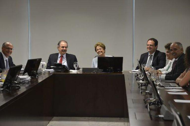 Alckmin, Mercadante e Dilma em Brasília.