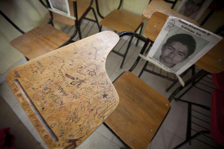 Imagem de uma das vítimas na Escola de Ayotzinapa.