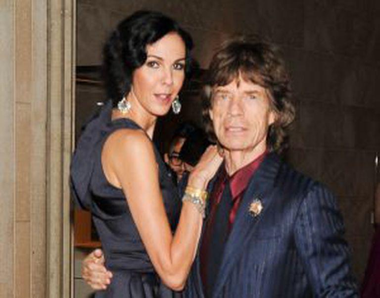L'Wren Scott e Mick Jagger, fotografados em julho de 2012.
