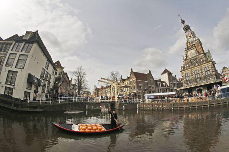 Os canais de Alkmaar, na Holanda.