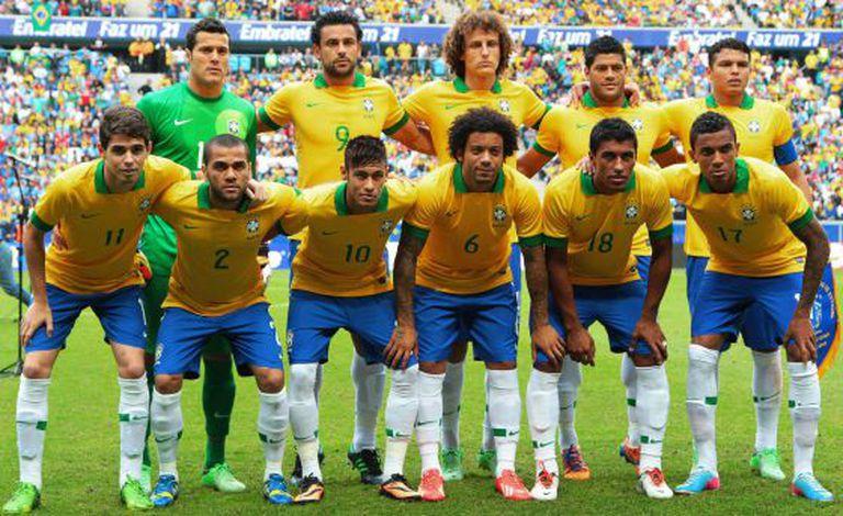 Formação da seleção brasileira que venceu a Copa das Confederações.