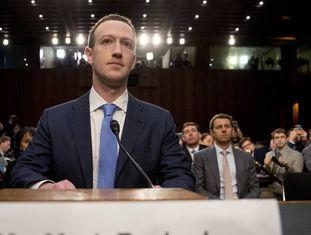 Mark Zuckerberg em abril deste ano, quando depôs no Congresso dos EUA sobre o escândalo da Cambridge Analytica.