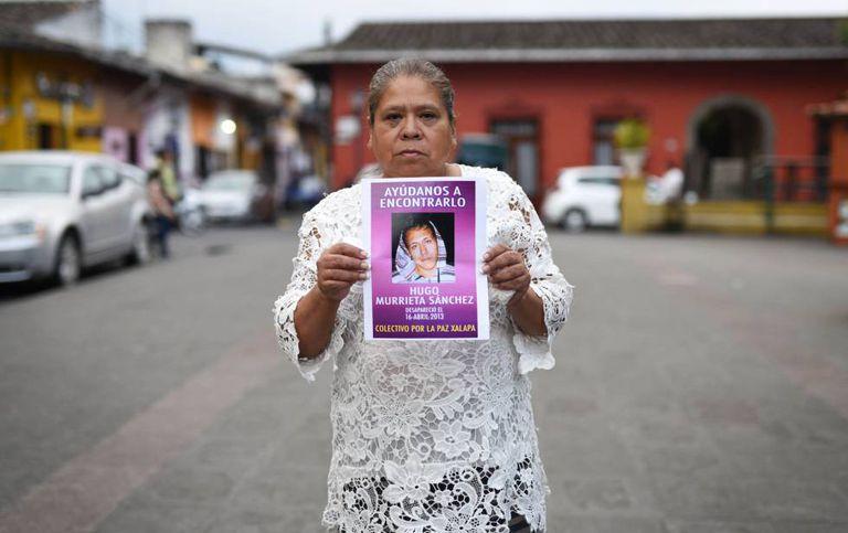 María do Carmen Sánchez em Coatepec.