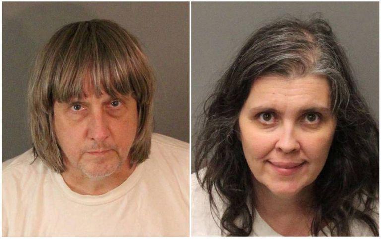 Fotos policiais de David e Louise Turpin depois de serem detidos no domingo, 14 de janeiro.