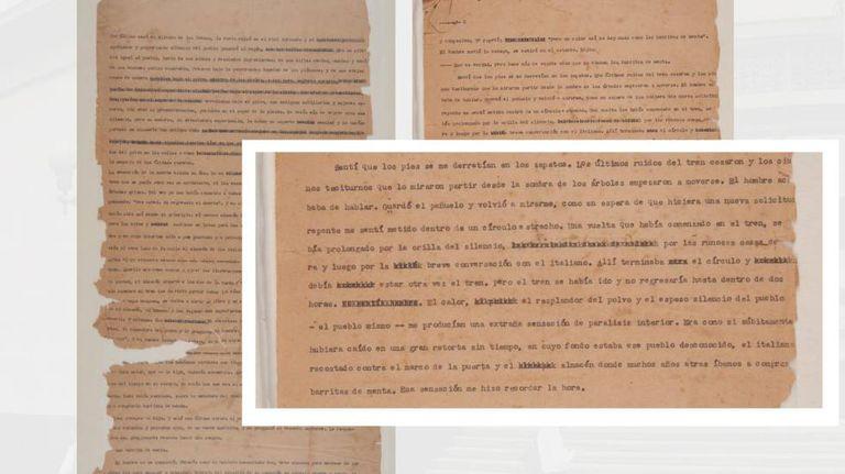 Reprodução do conto inédito de García Márquez 'Relato de las Barritas de Menta', permitida pela Biblioteca Luis Ángel Arango, do Banco da República da Colômbia