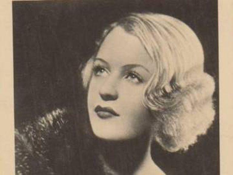 Hilda Krüger, em sua juventude.
