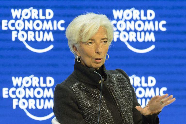 Christine Lagarde, diretora do FMI, no Fórum Econômico de Davos.