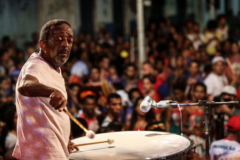 O percussionista Naná Vasconcelos em janeiro deste ano.