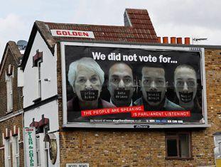 Propaganda anti-Brexit, em Londres.