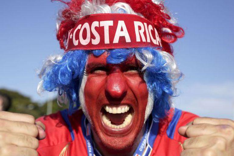 Um torcedor da Costa Rica em Belo Horizonte.