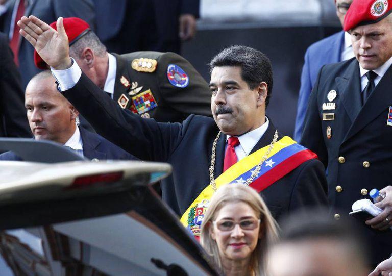 Nicolás Maduro, durante um ato protocolar