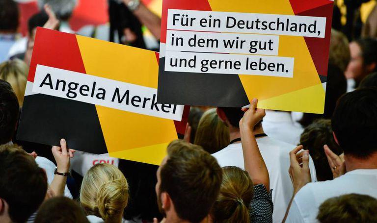 Eleitores de Angela Merkel neste domingo.