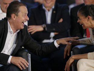 Eduardo Campos e Marina Silva em abril.