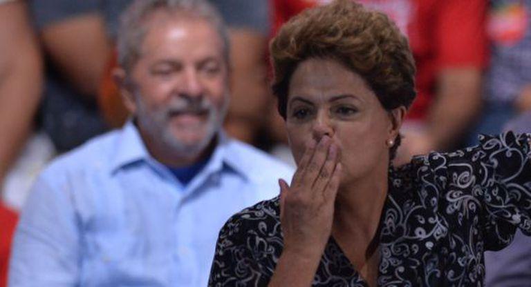 Dilma e Lula no dia 20: petista tem leve liderança.
