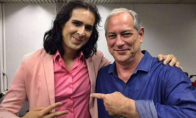 Duda Salabert e Ciro Gomes no evento de filiação ao PDT.