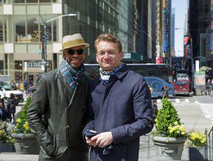 Claibourn Hamilton e Adrian Comam.