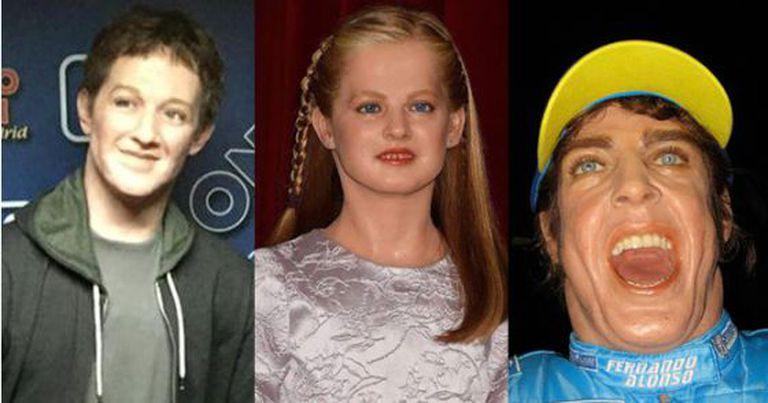 Reconheceu? As estátuas de Mark Zuckerberg, a princesa Leonor e Fernando Alonso.