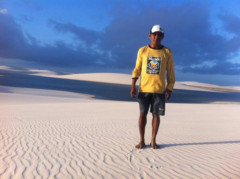 O guia Everaldo Garcia dos Santos, que nasceu nos Lençóis.