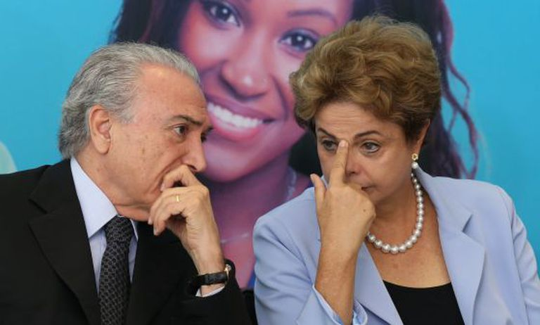 Michel Temer e Dilma Rousseff, em agosto deste ano.
