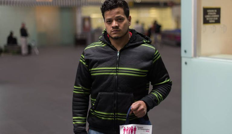 Heriberto Pérez, de 28 anos, um dos deportados.