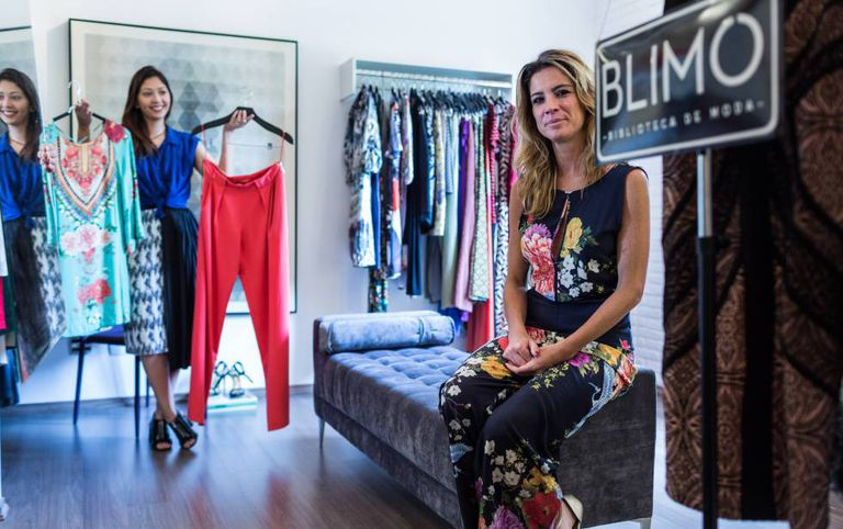 Mariane Salerno criou a Blimo, uma biblioteca de roupas femininas.
