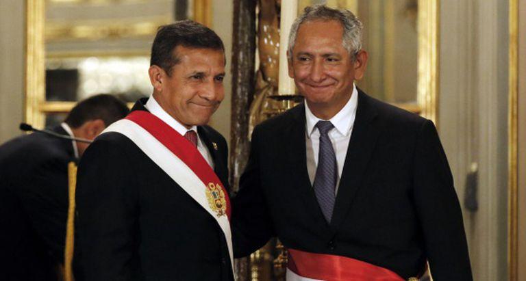 Humala e o primeiro-ministro peruano Rene Cornejo.