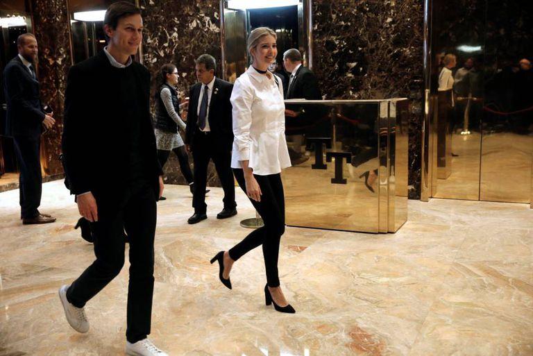 Ivanka Trump e Jared Kushner na Trump Tower em 18 de novembro