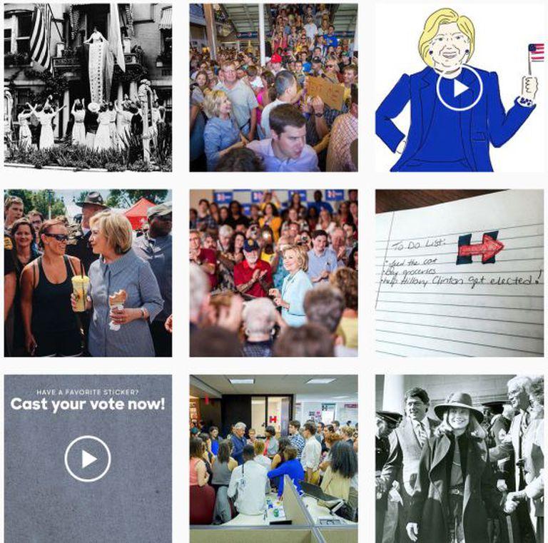 @HillaryClinton NO INSTAGRAM. Perfil da candidata criada para os 'millennials'.