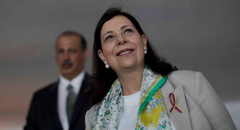 A nova embaixadora da Venezuela, Maria Teresa Belandria, nesta segunda-feira.
