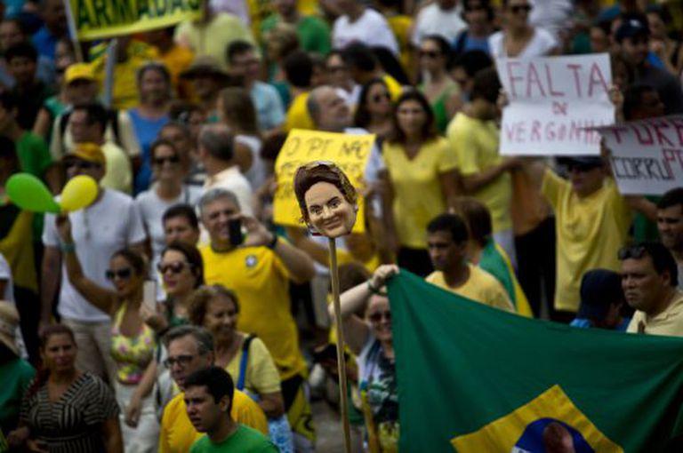 Protesto no Rio este domingo.