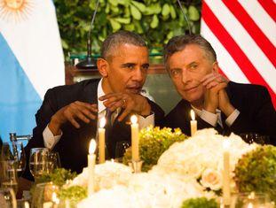 Obama e Macri, durante o jantar oficial em Buenos Aires.