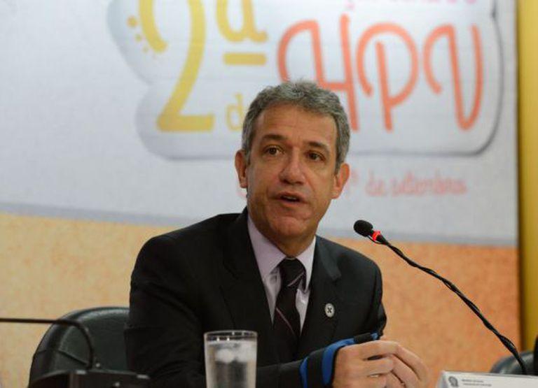 O ministro Arthur Chioro durante um evento em Brasília, em agosto.