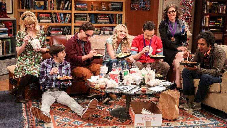 Cena do último capítulo de 'The Big Bang Theory'.